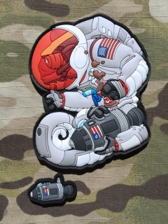 MoralPatches TACTICAL CHAMELEON LEGION ARMSTRONG APOLLO 11 50TH ANNIVERSARY MOONLANDING PVC Patch - nášivka