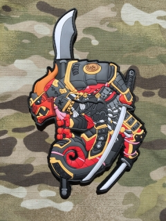 MoralPatches TACTICAL CHAMELEON LEGION SAMURAI PVC Patch - nášivka