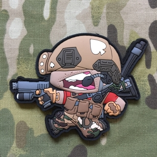 MoralPatches BB Heads Airsoft Player V1 PVC Patch - nášivka