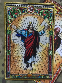 MoralPatches RISEN CHRIST JESUS EMBROIDERED Patch - nášivka
