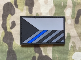 Czech Flag PVC Patch - SWAT - Blue line - nášivka