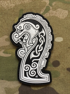 JTG Northman Dragon Ship Head PVC Patch - nášivka