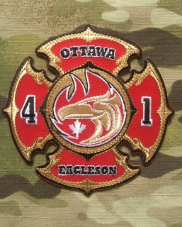 911Patches Ottawa Fire Department Station 41 Eagleson Patch - nášivka