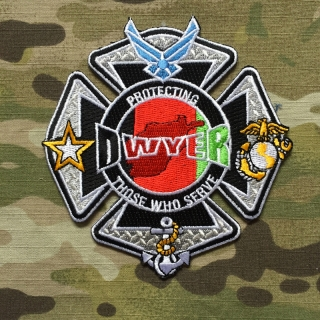 911Patches Afghanistan - Camp Dwyer Fire Department Military Patch - nášivka