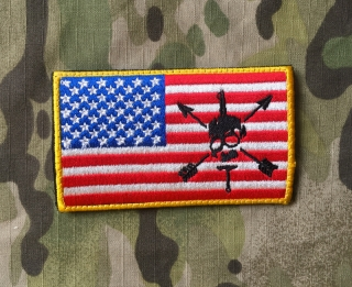 LaPatcheria American Skull and Arrows Flag Patch