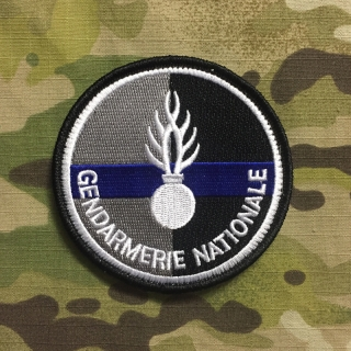 PoliceFirePatches France Gendarmerie Nationale Blue Line - nášivka