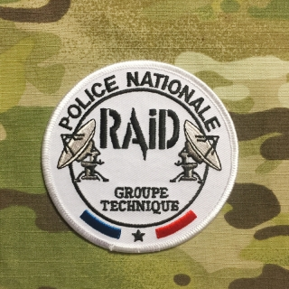 PoliceFirePatches France Police Nationale RAID Groupe Technique - nášivka