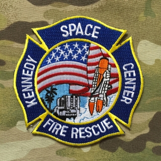 911Patches Kennedy Space Center Fire Rescue Department NASA Patch - nášivka