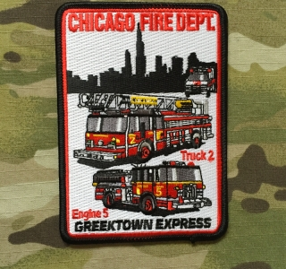 911Patches Chicago Fire Department Engine 5 Truck 2 Patch - nášivka