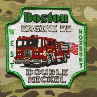 911Patches Boston Fire Department Engine 55 Patch - nášivka
