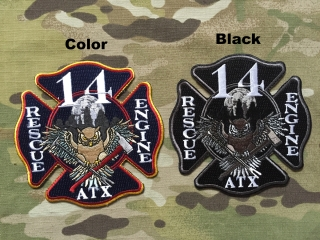 911Patches Austin Fire Department Station 14 Rescue Engine Patch - nášivka