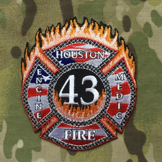 911Patches Houston Fire Department Station 43 Patch - nášivka