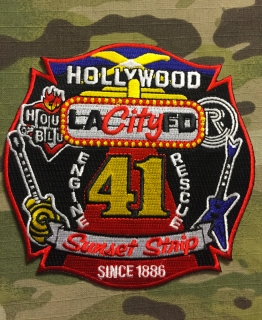 911Patches Los Angeles City Fire Department Station 41 Hollywood Sunset Patch - nášivka
