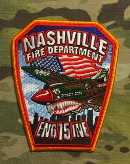 911Patches Nashville Fire Department Engine 15 Patch - nášivka