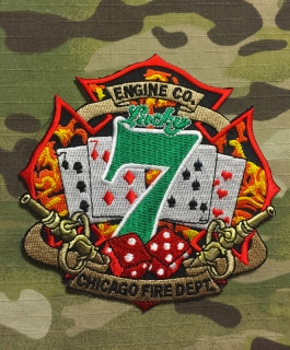 911Patches Chicago Fire Department Engine 7 patch  - nášivka