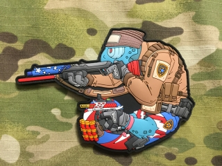 MoralPatches TACTICAL CHAMELEON LEGION IPSC Competition Shooter PVC Patch - nášivka