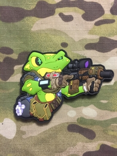 MoralPatches Frogman - Gun PVC Patch - nášivka
