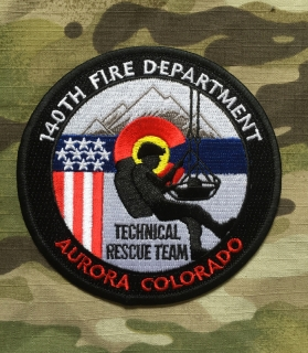 911Patches 140th Wing Fire Department Technical Rescue Team USAF Patch - nášivka