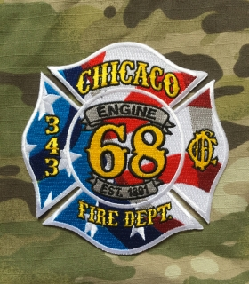 911Patches Chicago Fire Department Engine 68 343 Patch - nášivka