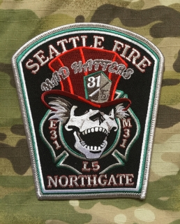 911Patches Seattle Fire Department Engine 31 Ladder 5 Medic 31 Patch - nášivka