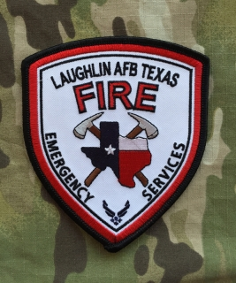 911Patches Laughlin Air Force Base AFB Fire Department ES USAF Patch - nášivka