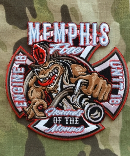 911Patches Memphis Fire Department Station 16 Engine Unit Patch - nášivka