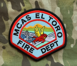 911Patches Marine Corps Air Station MCAS El Toro Fire Department USMC Patch - nášivka