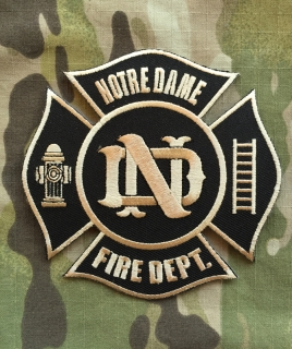 911Patches The University of Notre Dame Fire Department Patch - nášivka