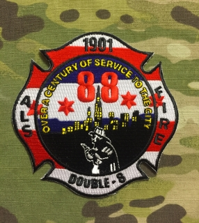 911Patches Chicago Fire Department Station 88 Patch - nášivka