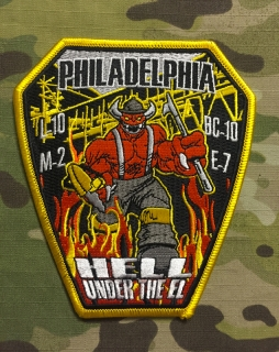911Patches Philadelphia Fire Department Engine 7 Ladder 10 Medic 2 Patch - nášivka