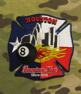 911Patches Houston Fire Department Station 8 Patch - nášivka