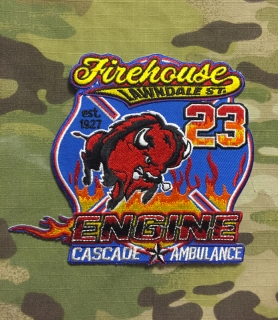 911Patches Houston Fire Department Station 23 Patch - nášivka