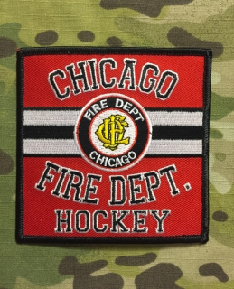 911Patches Chicago Fire Department Hockey Team Patch - nášivka