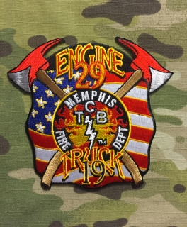 911Patches Memphis Fire Department Engine 29 Truck 19 Patch - nášivka
