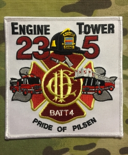 911Patches Chicago Fire Department Engine 23 Tower 5 Battalion 4  Patch - nášivka