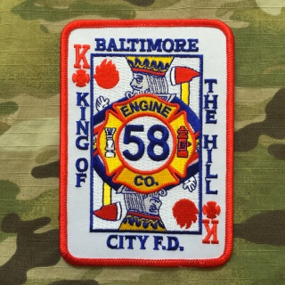911Patches Baltimore City Fire Department BCFD Engine 58 Patch - nášivka