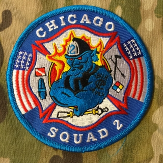 911Patches Chicago Fire Department Squad 2 Patch - nášivka
