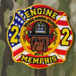 911Patches Memphis Fire Department Engine 22 Battalion 6 Patch - nášivka