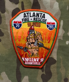 911Patches Atlanta Fire Rescue Department Engine 9 Patch - nášivka
