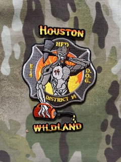 911Patches Houston Fire Department Engine 14 District 14 Wildland Patch - nášivka