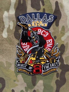911Patches Dallas Fire Rescue Department Station 8 Patch - nášivka