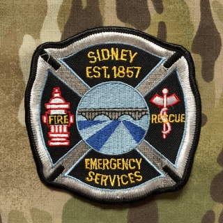 911Patches Sidney USA Fire Rescue Department Emergency Services Patch - nášivka