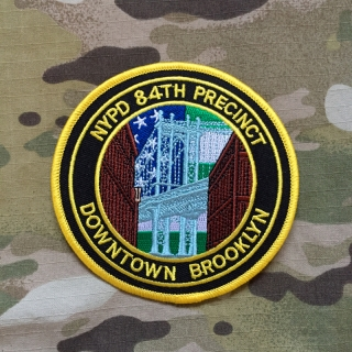 PoliceFirePatches USA NYPD 84th Precinct Downtown Brooklyn Patch - nášivka