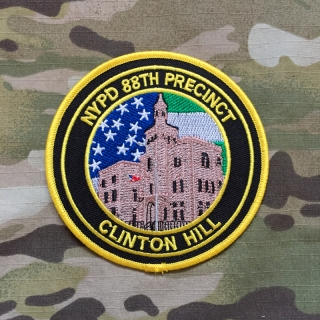 PoliceFirePatches USA NYPD 88th Precinct Clinton Hill Patch - nášivka