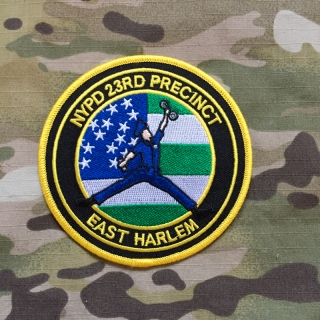 PoliceFirePatches USA NYPD 23rd Precinct East Harlem Patch - nášivka