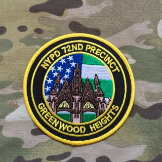 PoliceFirePatches USA NYPD 72nd Precinct Greenwood Heights Patch - nášivka