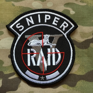 PoliceFirePatches France Police Nationale RAID Sniper Patch - nášivka
