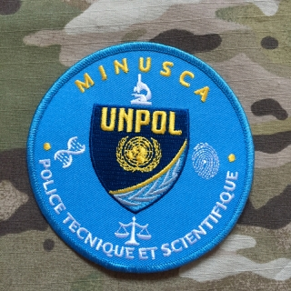 PoliceFirePatches Central African Republic MINUSCA UNPOL  Police Tecnique Et Scientifique Patch - nášivka