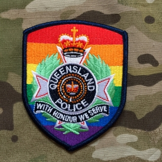 PoliceFirePatches Australia Queensland Police LBGT Pride Edition Patch - nášivka