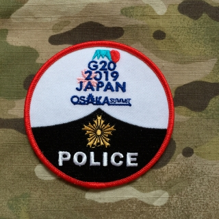 PoliceFirePatches Japan Osaka Police G20 Summit 2019 Patch - nášivka